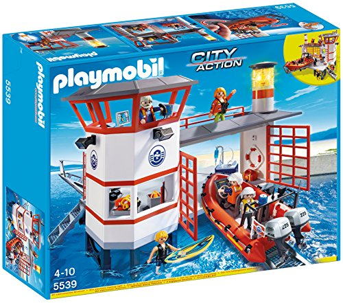 (PLAYMOBIL Coast Guard Station with Lighthouse Play Set (Discontinued by manufacturer))