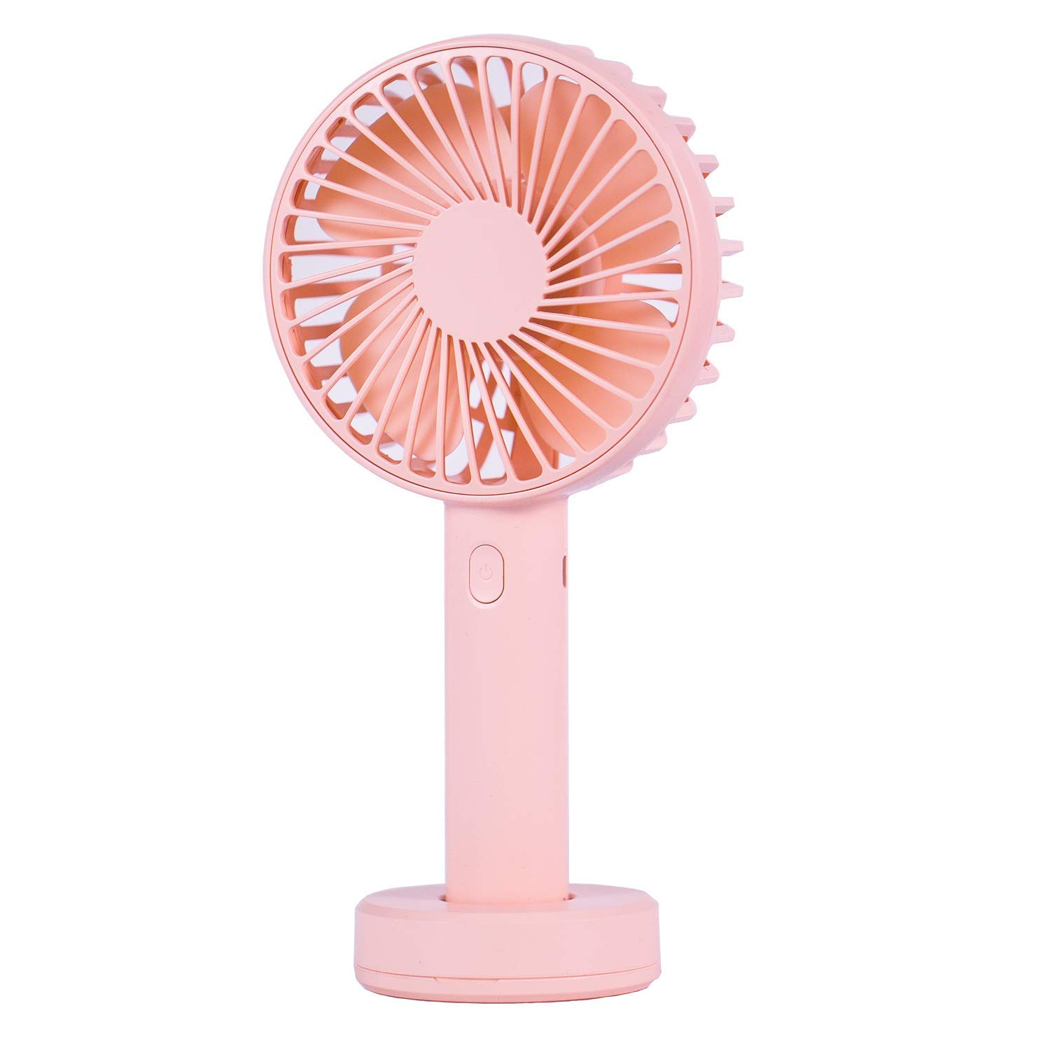 Portable Handheld Fan, Personal Small Mini Cooling USB Fan with Rechargeable Battery Operated for Desktop Home Outdoor Travel Light Pink