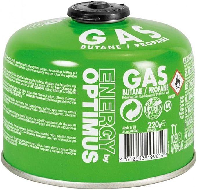 OPTIMUS Gas Cartridge, Compatible with Coleman/MSR/Primus/Edelrid 220 gr