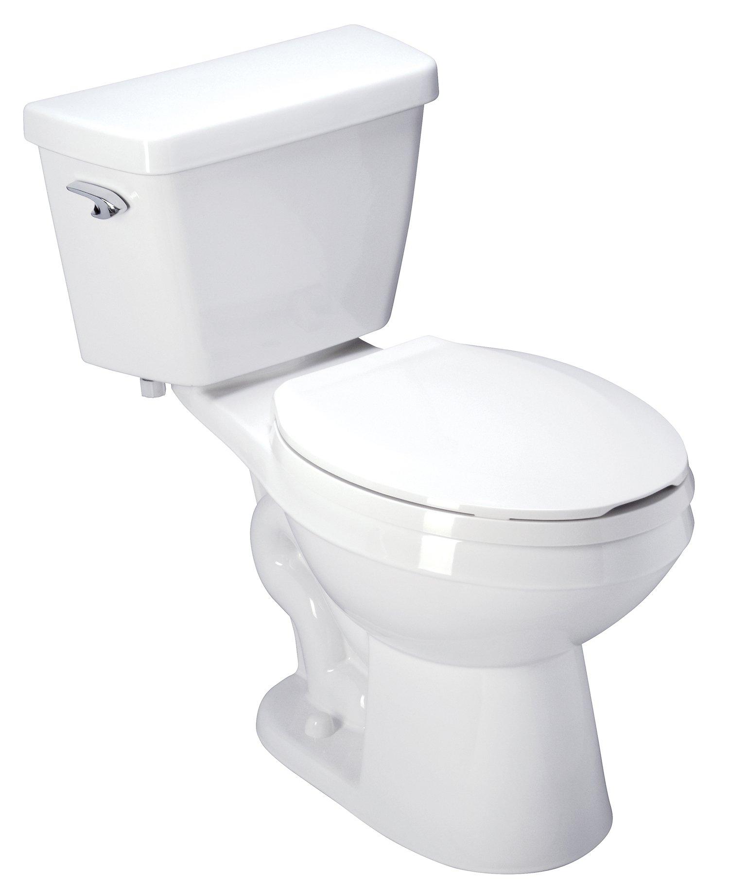 Zurn Z5551 ADA, Elongated, 3'' HPT Performance, Siphon Jet, 1.6 gpf Two-Piece Toilet