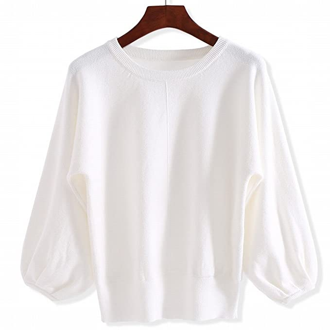 La Sra. Corto, suéter tricotado camisa de manga larga gruesa cabeza ...