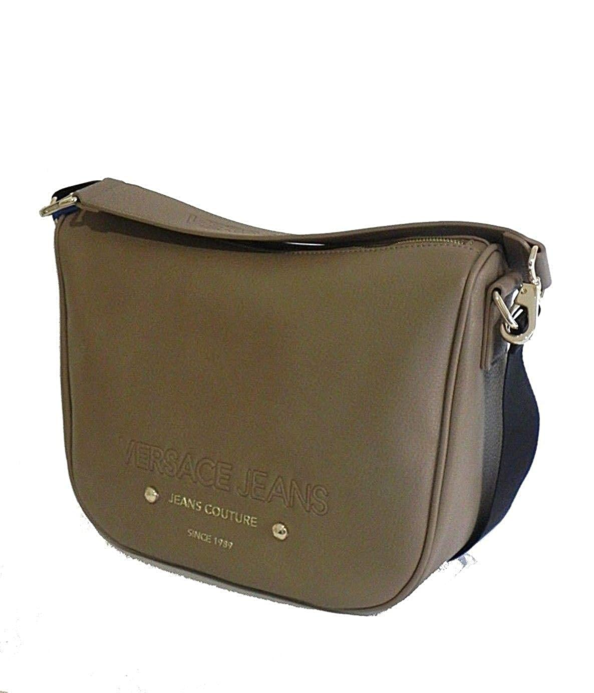 6ab0a7df4d43 Amazon.com  Versace EE1VSBBS4 E723 Taupe Messenger Bag for Womens  Shoes