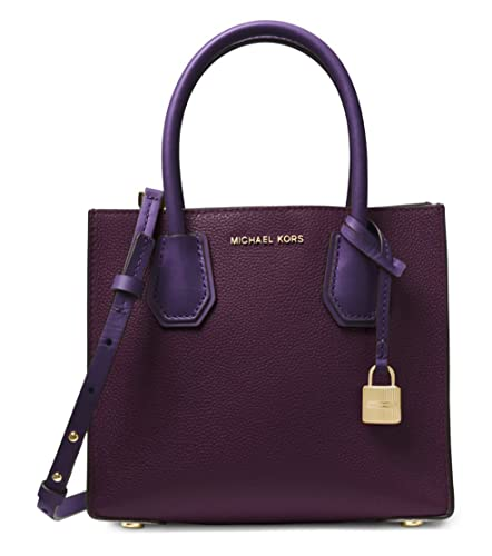 b4a323a9726a MICHAEL Michael Kors Mercer Colorblock Leather Crossbody in Damson/Iris:  Amazon.co.uk: Shoes & Bags
