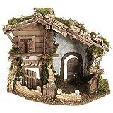 Holyart Nativity scene accessory, cabin-style hut, 28x38x30cm