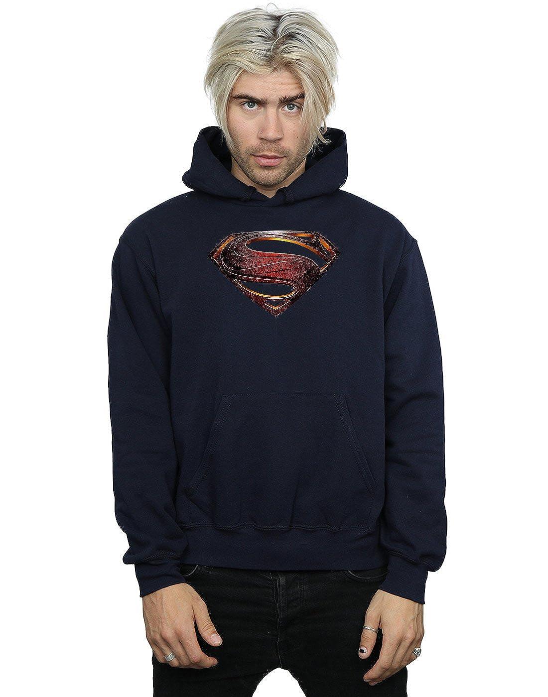 DC Comics Herren Justice League Movie Superman Emblem Kapuzenpullover