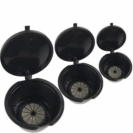 3pcs reutilizable filtros de café cápsula taza cafetera accesorios para todo tipo de máquinas de café