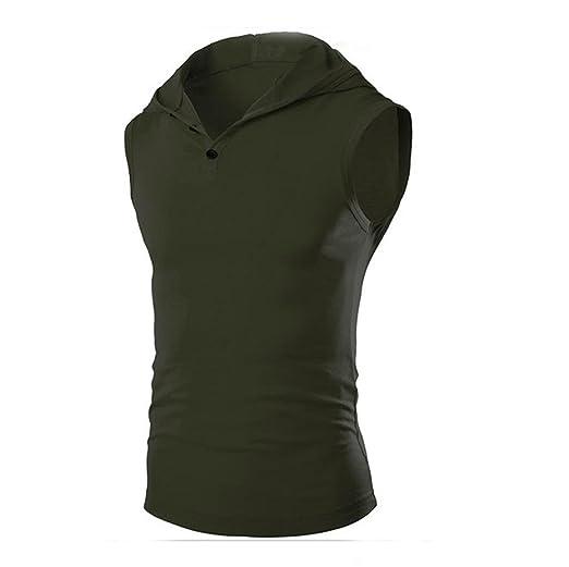 44cebe2a Boomboom Men Shirts, Summer Men Sleeveless Hoodies Tank Vest T-Shirt (M,