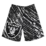 NFL Football 2015 Polyester Repeat Print Logo Mens Shorts - Pick Team (Oakland Raiders, Medium)