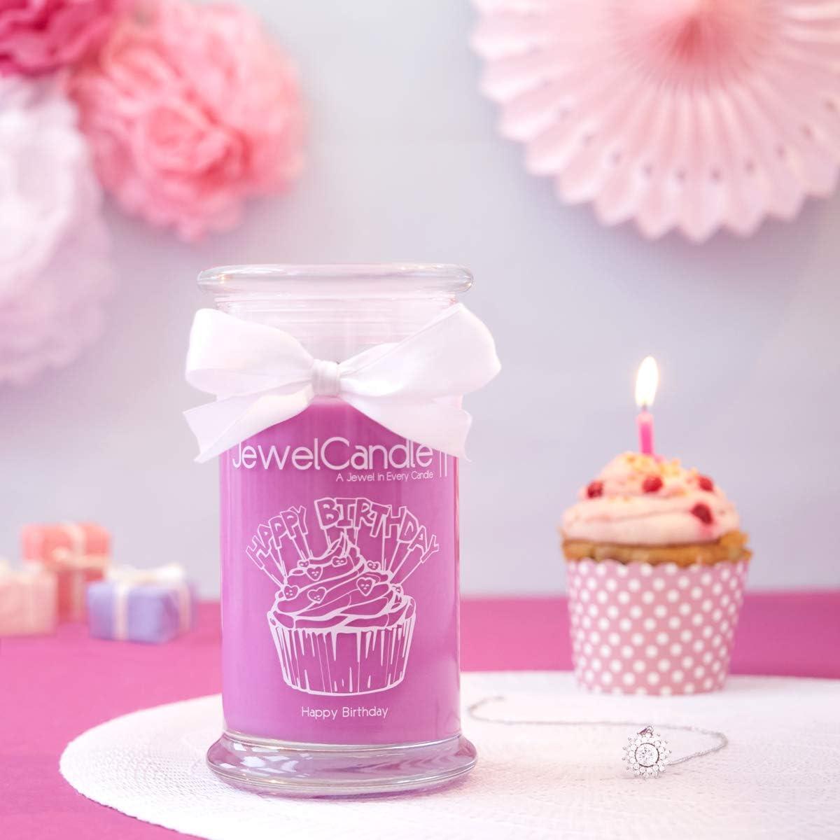 Bougie Parfum/ée avec Bijou Surprise en Argent JewelCandle Happy Birthday M Bague