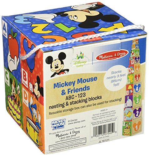 Melissa & Doug Mickey Mouse & Friends Nesting & Stacking Blocks Baby Toy