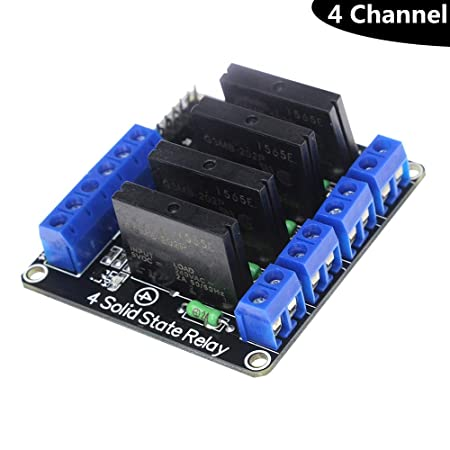 Modulo Relè SSR 1 Canale a Stato Solido per Carichi in Alternata Arduino