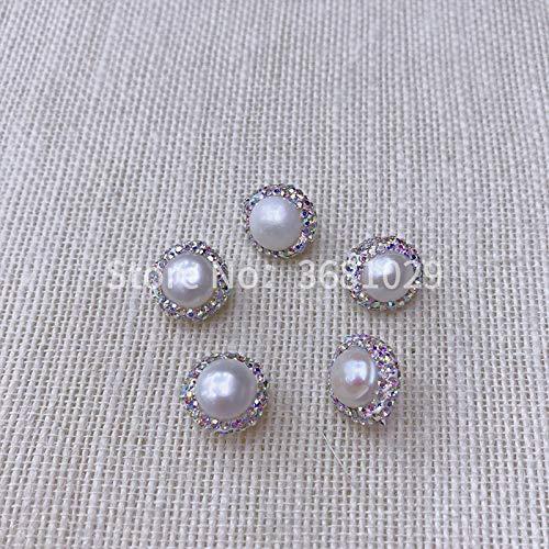 Inlays Circular - Calvas New Pearl Circular Inlay Jewelry Beads Fashionable Personality Simple Pendant