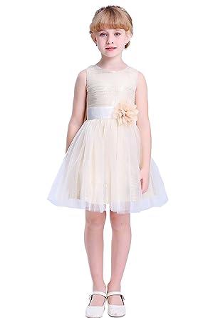 Amazon bow dream flower girls dress sequins tulle clothing bow dream flower girls dress short sequins tulle gold 2t mightylinksfo