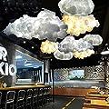 Injuicy Lighting Loft Cloud E27 Led Droplight Silk Pendant Lamp Bar Cafe Balcony Ceiling Light Fixtures Dining Chandelier Bedroom Lighting Decor (800mm)