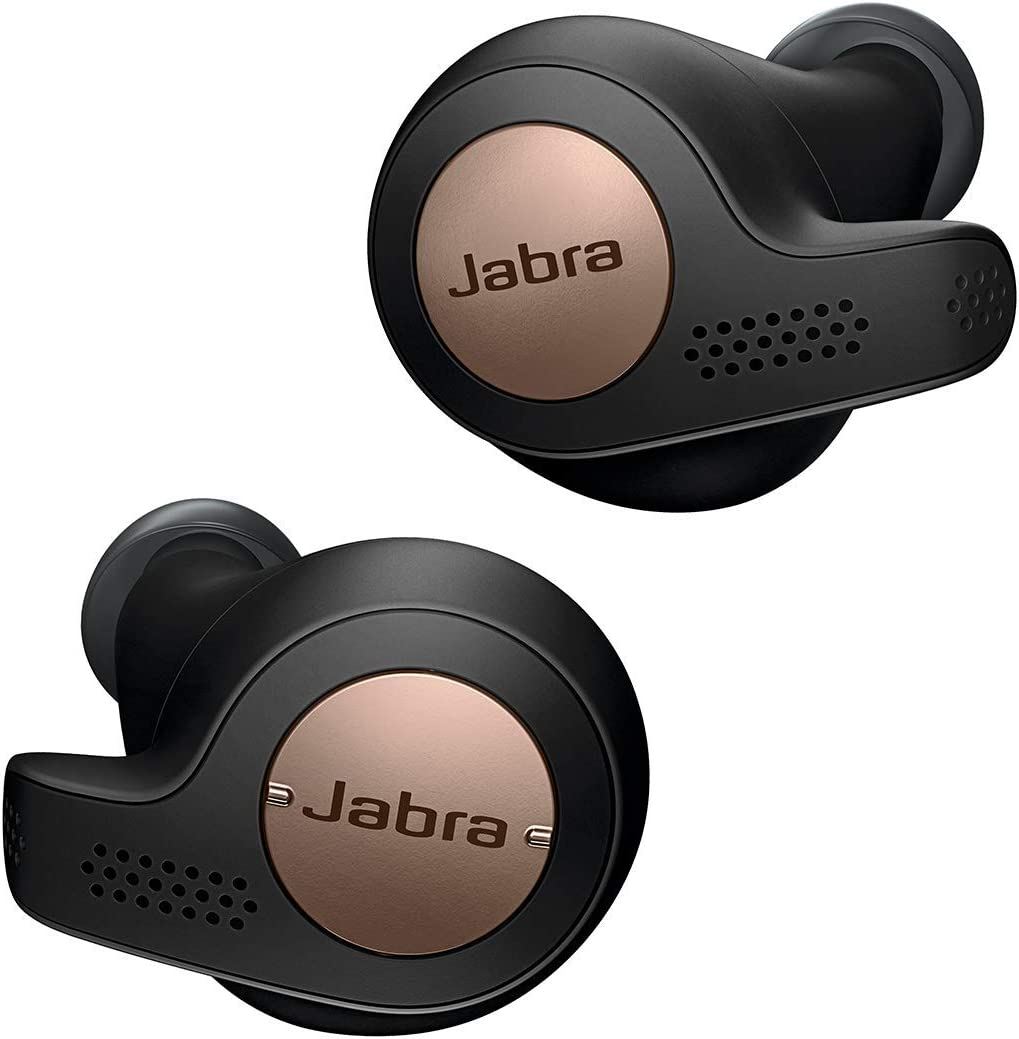 Jabra Elite Active 65t Alexa Edition - Auriculares inalámbricos para deporte (Bluetooth 5.0, True Wireless) color negro y cobre