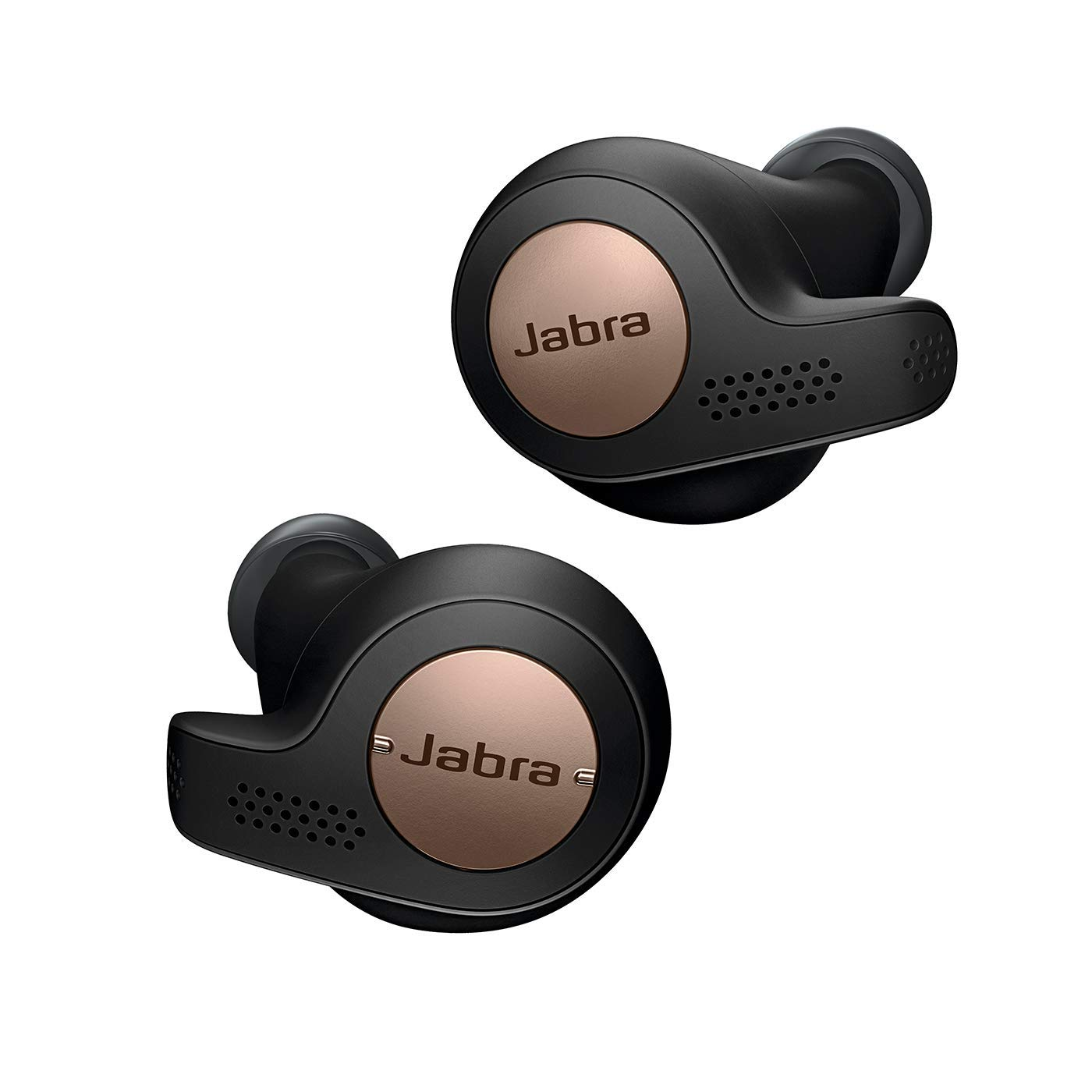 Jabra Elite Active 65t Earbuds True Wireless Earbuds with Charging Case, Copper Black Bluetooth Earbuds with a Secure Fit and Superior Sound, Long Battery Life and More Renewed