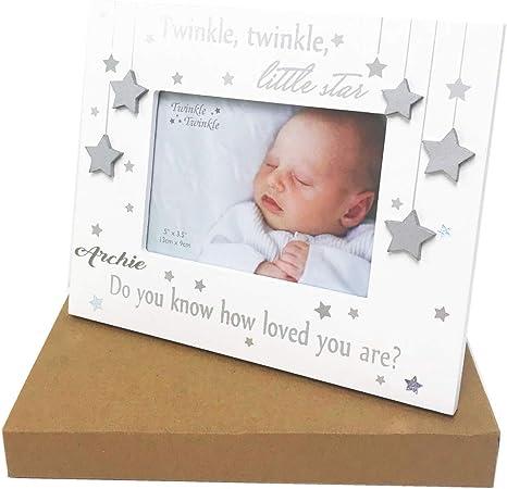 Personalised christening keepsake for little boy special christening star gift