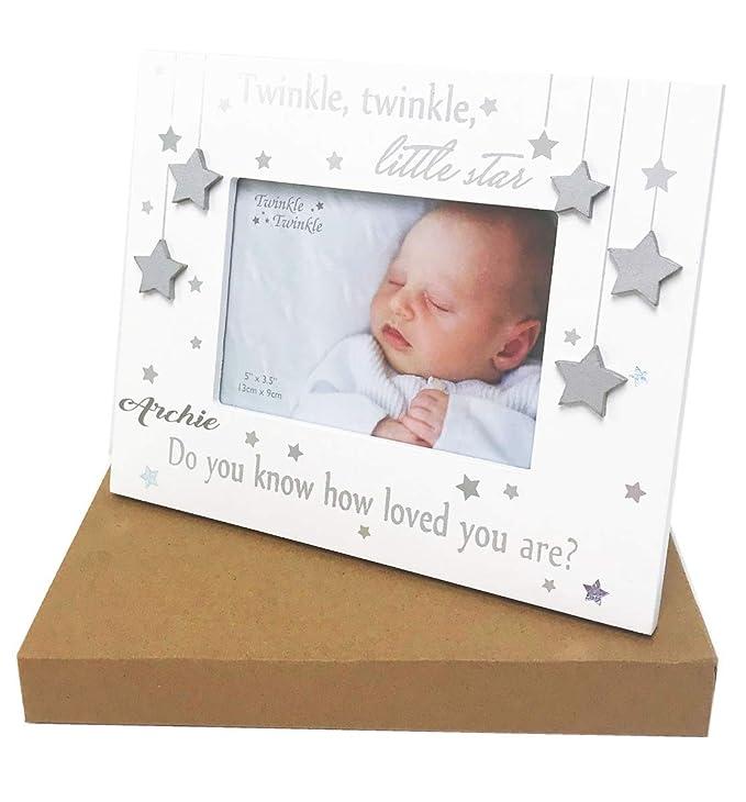 Personalised New Baby Frame Twinkle Star: Amazon.es: Bebé