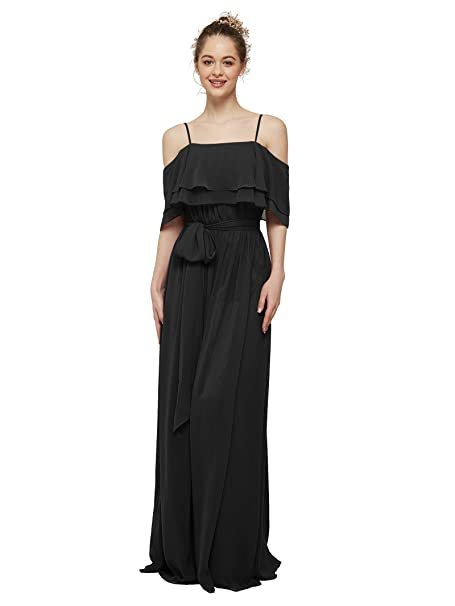 AW Womens Off The Shoulder Ruffle Party Dresses Plus Size ...
