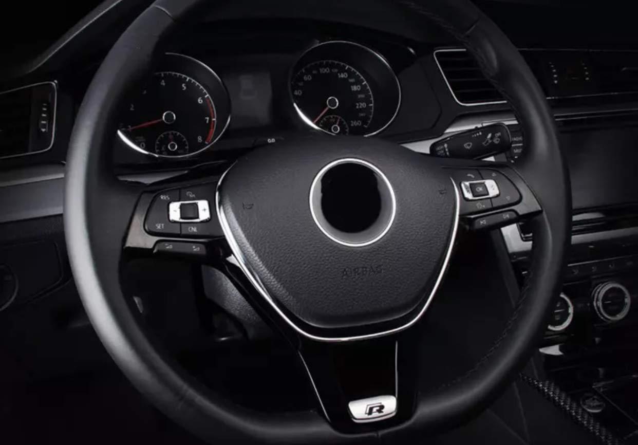 Emblem Trading telaio volante Logo Rline console centrale cruscotto rivestimento ABS plastica cromata accessori auto