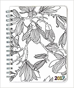 2017 color me 12 month spiral engagement planner
