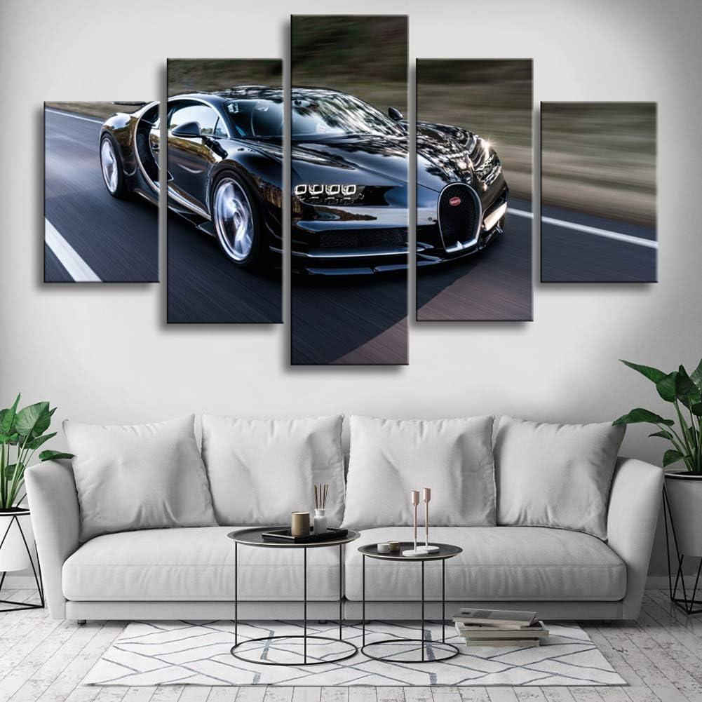 Canvas picture he XXL POP ART BUGATTI Chiron Car Abstract WALL POSTER GRAFFITI