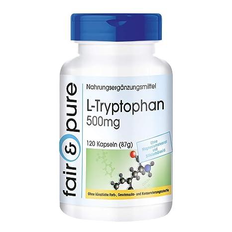 L-Triptófano 500mg - 120 cápsulas veganas - aminoácido esencial