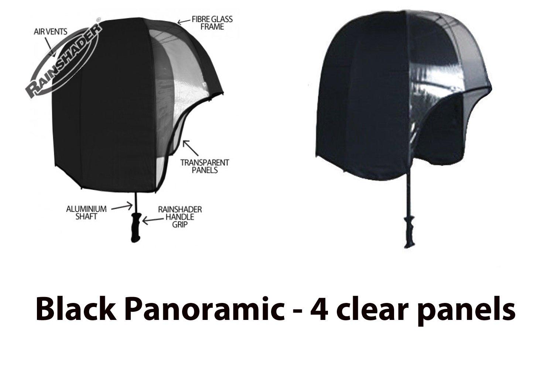 Amazon.com: rainshader Negro panorámica paraguas resistente ...