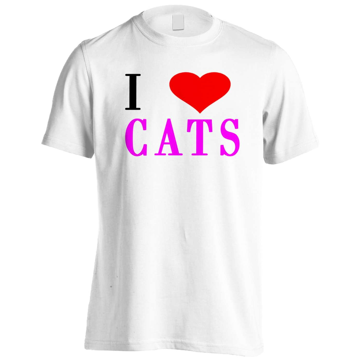 I Love CATS Funny Novelty New Men's T-Shirt Tee h23m