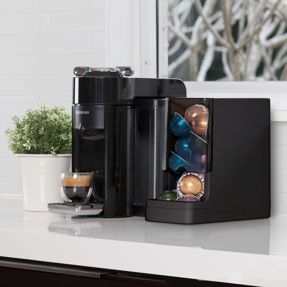 Never Run Out of Coffee - WePlenish Java - Smart Coffee Pod Holder with Amazon Dash Replenishment Built In | Nespresso Capsule and Keurig K-Cup Holder Black by WePlenish (Image #4)