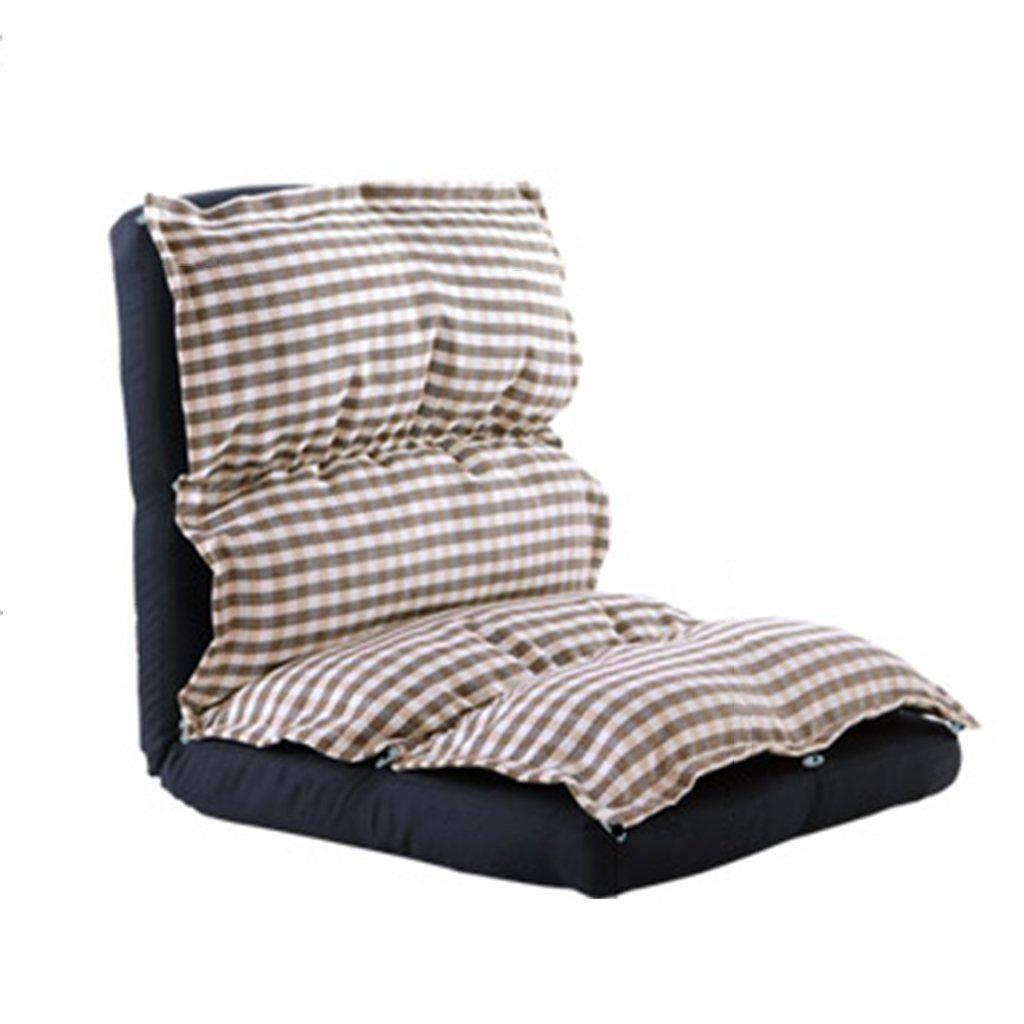 Unbekannt Bodenstuhl Einzelne Boden-Stühle Für Mädchen, Baumwolljustierbares Faules Sofa Für Schlafzimmer-Wohnzimmer