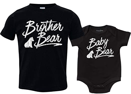 779faf0c2e Amazon.com: Texas Tees Clothing for Siblings, Bear Shirts, Brother Bear,  Sister Bear, Baby Bear Bodysuit: Clothing