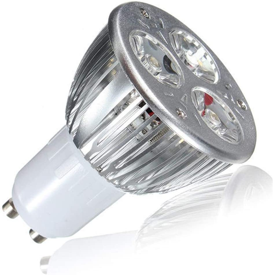 Z.L.FFLZ LED Light Warm White 10X GU10 9W 3LED Spot Light Bulbs AC85-265V