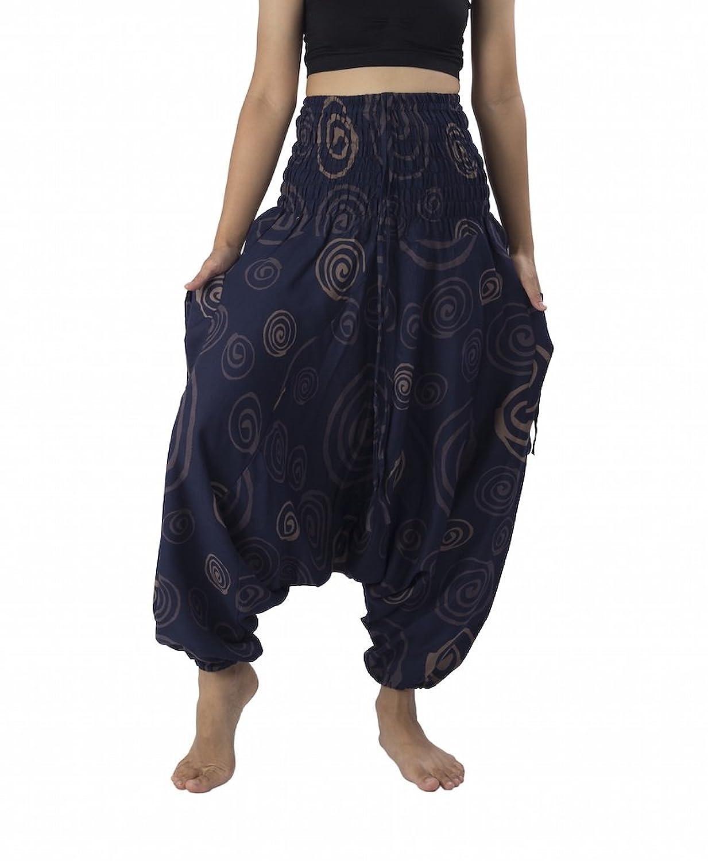 Lannaclothesdesign Women's 2 In 1 Jumpsuit Circle Printed Harem Pants
