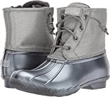 Sperry Top-Sider Women's Saltwater Pearlized Rain Boot, Gunmetal, 9.5 Medium US