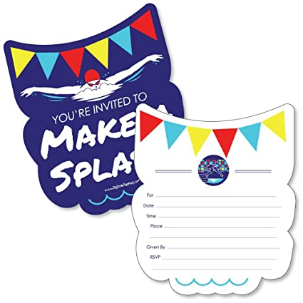 Amazon making waves swim team shaped fill in invitations making waves swim team shaped fill in invitations swimming party or birthday stopboris Choice Image