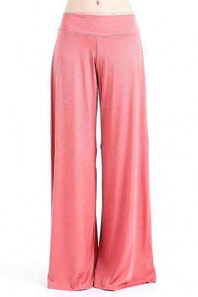 6f6c90aeecb9d Frumos Womens Palazzo Pants Ribbed Knit Coral Medium  Amazon.ca ...