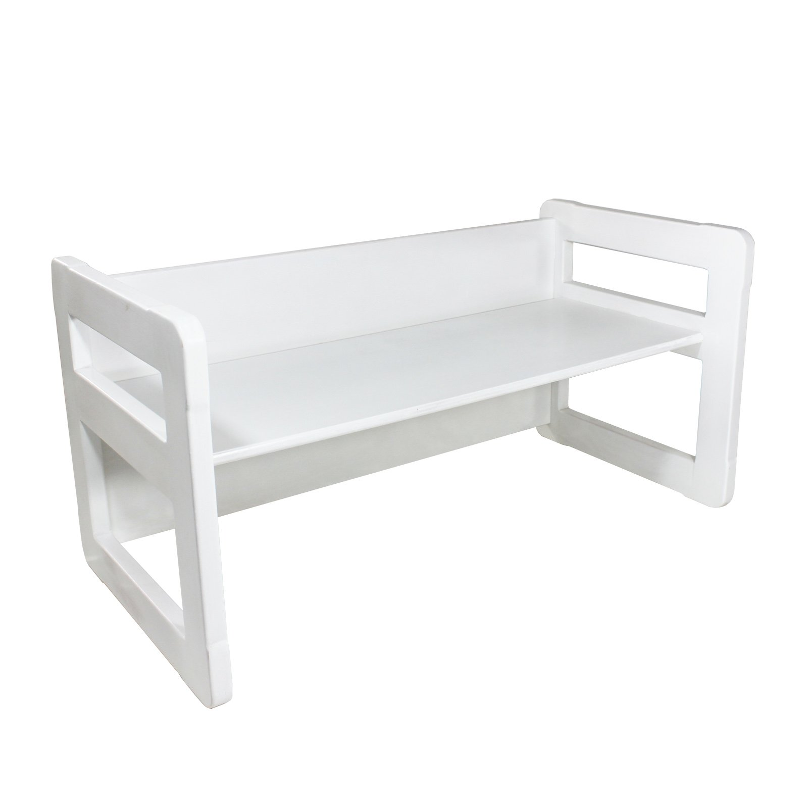 3 in 1 Childrens Multifunctional Furniture Set of 2, One Small Bench or Table and One Large Bench or Table Beech Wood, White Stained by Obique Ltd (Image #9)