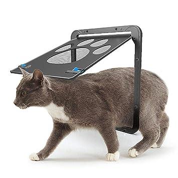 AOLVO Puerta mosquitera magnética con Bloqueo automático para Gatos, Cachorros, Perros pequeños: Amazon.es: Hogar