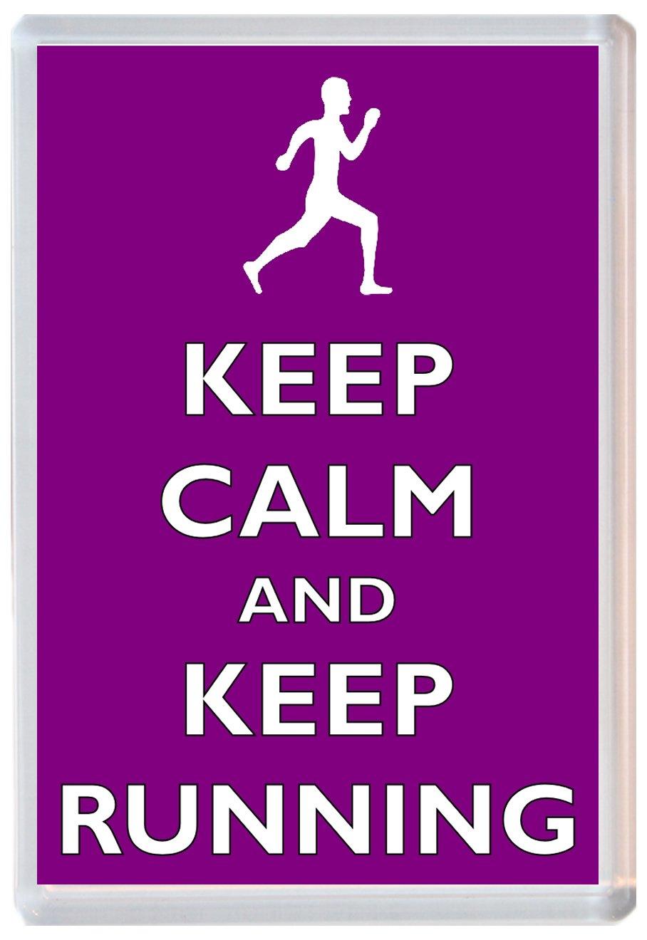 Keep Calm And Keep Running - Jumbo imán para nevera - Marca nuevo ...
