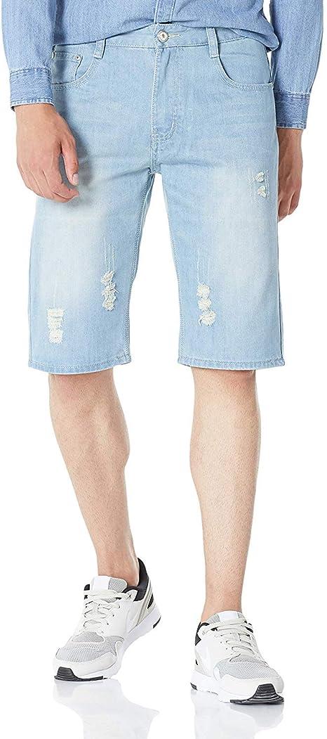 Heart Yuxuan Mens Denim Shorts Fashion Casual Slim Fit Stretch Jeans Shorts