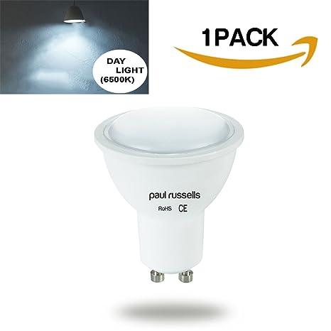 Bombilla LED GU10 paul russells Spot Bombilla día 6500K, 5W equivalente a 50 W incandescente