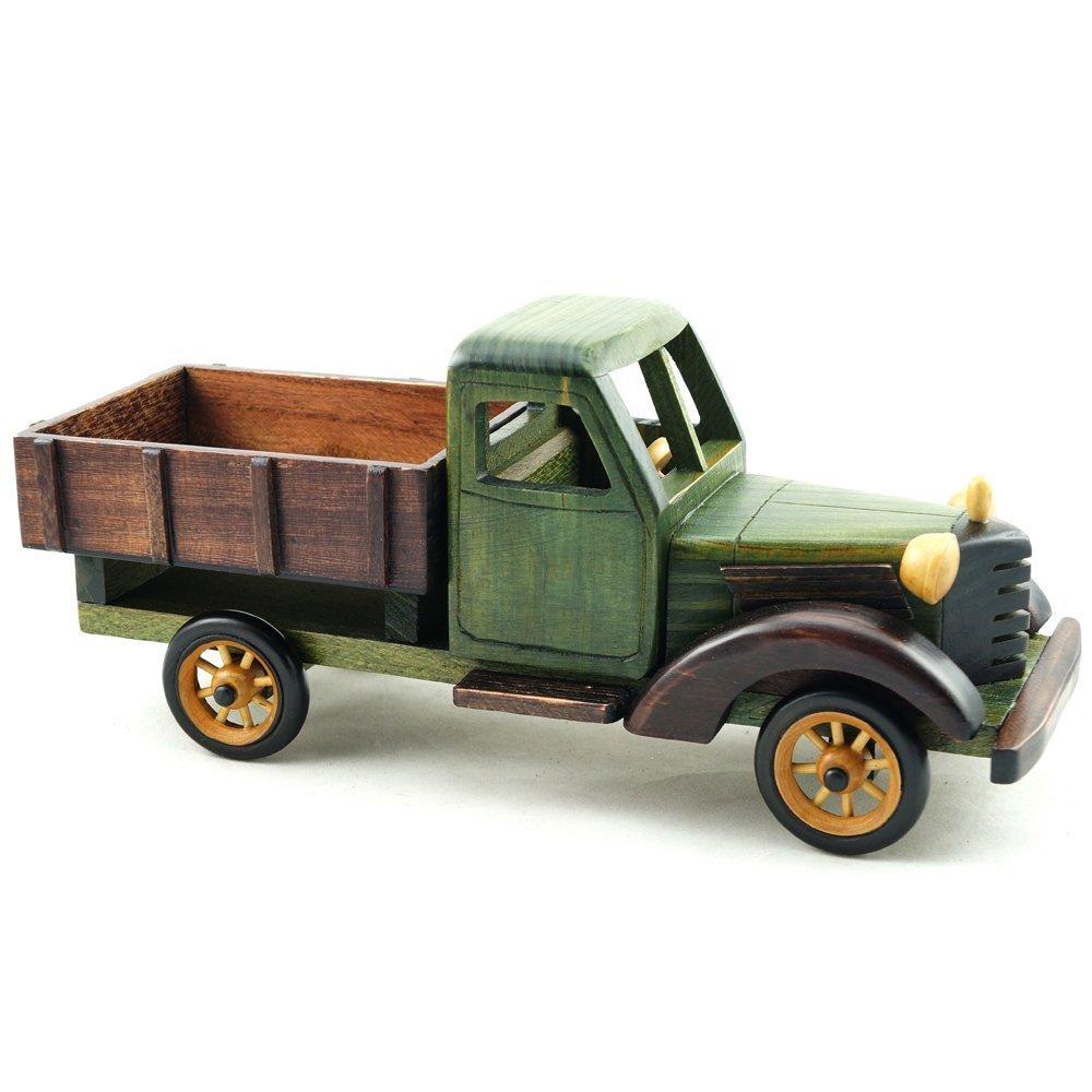 Amazon.com: Cosette Vintage Collect Realistic Handmade Green Truck ...