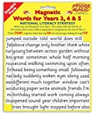 National Literacy Strategy Magnetic Words for Years 3,4&5 DOUBLE PACK Key Stage 2