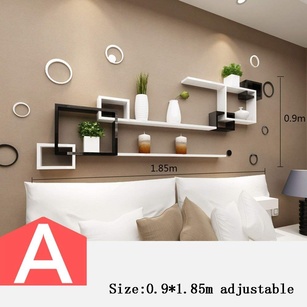 Amazon.com: CWJ Wall Shelf Living Room Tv Wall Decoration ...