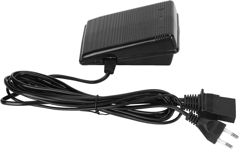 Cable de alimentación del pedal de vástago bajo, pedal de 3 orificios para máquina de coser, fábrica para SINGER para accesorios de costura Inicio(European standard 220V, pink)