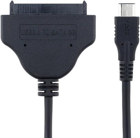 JSER - Cable Adaptador de USB 3.1 Macho a SATA de 22 Pines para ...