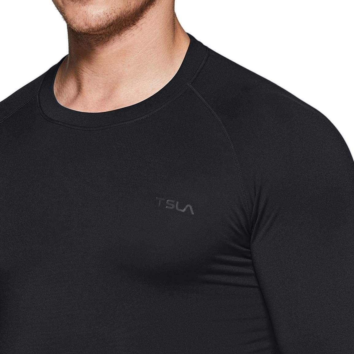 TSLA 1 or 2 Pack Mens Thermal Long Sleeve Compression Shirts Athletic Base Layer Top Winter Gear Running T-Shirt