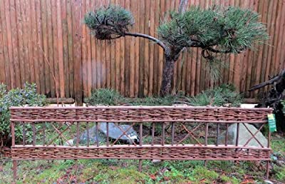 "WE-44 Woven Willow Edging with Diamond Pattern, Sizes 47""W x 16""H"