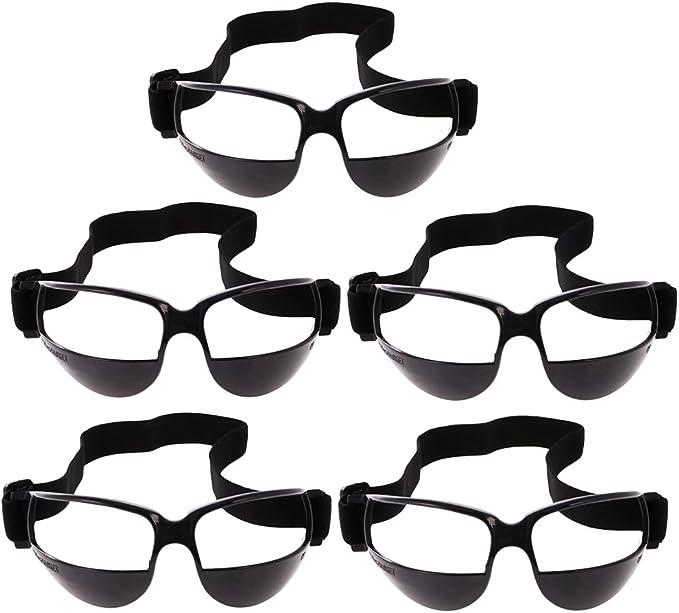 perfk 1/5 Unidades Gafas de Entrenamiento de Baloncesto para Ejercitador de Básquetbol - Negro 5 Piezas
